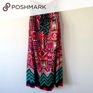 Aztec Print Maxi Skirt!